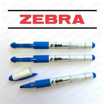 Zebra Fine Tip Whiteboard Marker - Z-WM Blue - Pack of 6